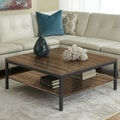Jesper Office Jesper Office P3939S Square Coffee Table with Shelf; Walnut