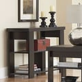 Ameriwood Hollowcore Console Table; Black Ebony Ash