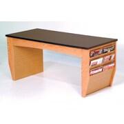 Wooden Mallet Dakota Coffee Table with Magazine Pockets; Light Oak