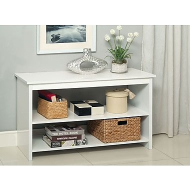 EnitialLab Waldon Open Shelf Console Table; White