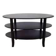 TMS London 3 Tier Coffee Table; Black