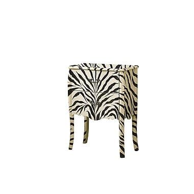 Monarch Transitional Accent Chest, Zebra