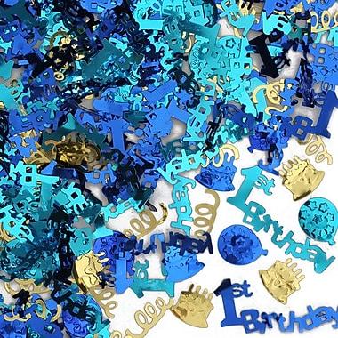 Beistle 1st Birthday Confetti, Blue, 5/Pack