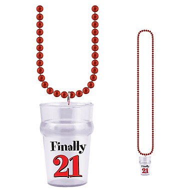 Beads With Finally 21 Glass, 33