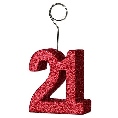 Porte photos/ballons « 21 » scintillant, paq./3