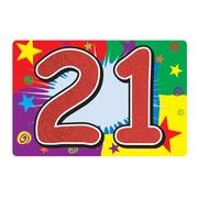 Affiche scintillante« 21 », 10 x 15 po, paq./6