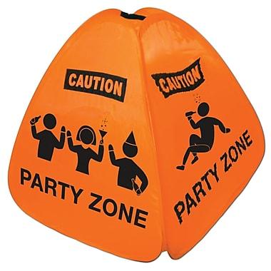 Enseigne repliable Party Zone pour plancher, 15 po, paq./2