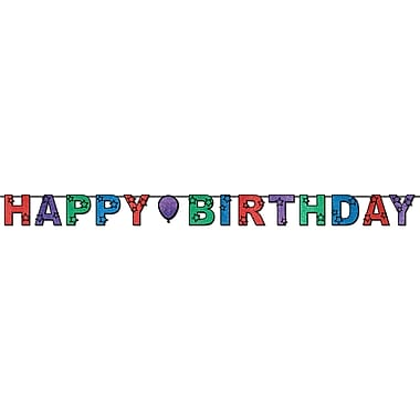 Banderole scintillante « Happy Birthday », 8 1/2 po x 10 pi, paq./2