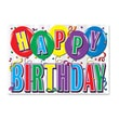 Beistle 12in. x 17 1/2in. Printed Hi-Gloss Foil Birthday Sign, Silver, 5/Pack