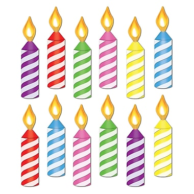 Mini Birthday Candle Cutouts, 61/2