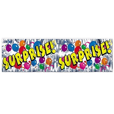Flame Resistant Metallic Surprise! Fringe Banner, 14