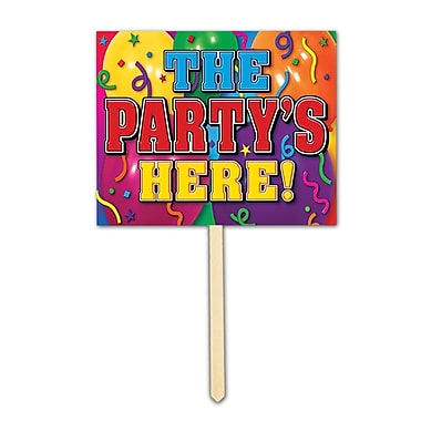 The Party's Here! Yard Sign, 12