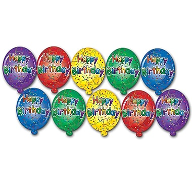 Mini découpes de carton « Happy Birthday », 4 1/2 po, 70/paquet