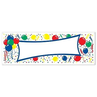 Balloons Sign Banner, 5' x 21