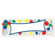 "Beistle 5' x 21"" Balloons Blank Sign Banner, 3/Pack"