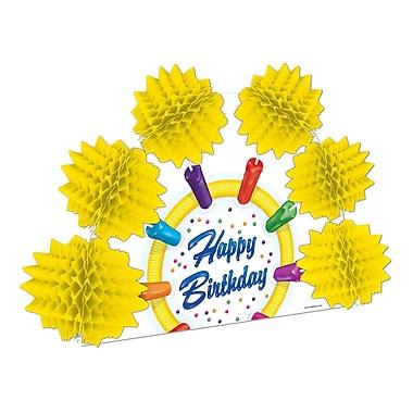 Centre de table feux d'artifice « Happy Birthday », 10 po, 4/paquet