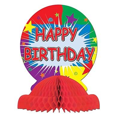 Centre de table « Happy Birthday », 9 po, 3/paquet
