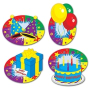 "Beistle 12"" Happy Birthday Cutouts, 16/Pack"
