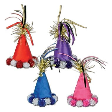 Cone Hat Hair Clips, 3/Pack