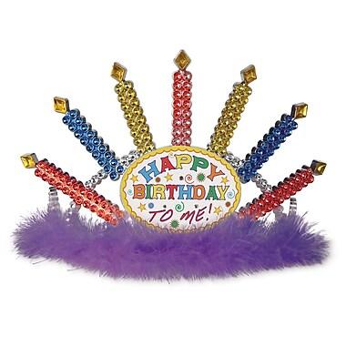 Plastic Light-Up Happy Birthday Tiara, 2/Pack