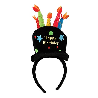 Plush Birthday Cake Headband, 2/Pack