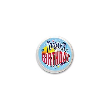 Macaron clignotant « Today's My Birthday », 2 po, 4/paquet
