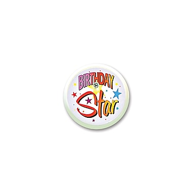 Birthday Star Blinking Button, 2