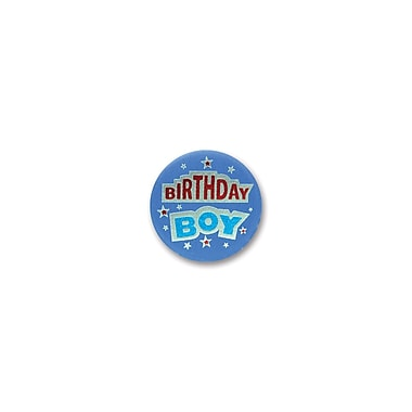 Blue Birthday Boy Satin Button, 2