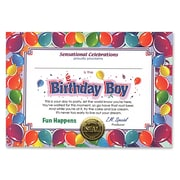 Beistle 5 x 7 Birthday Boy Certificate, 6/Pack