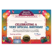 Beistle 5 x 7 Very Special Birthday Certificate, 6/Pack