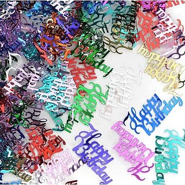 Beistle Fancy Happy Birthday Confetti, Multicolor, 5/Pack