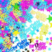 Beistle Birthday Star Confetti, Multicolor, 5/Pack