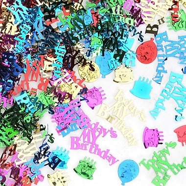 Beistle Today's My Birthday Confetti, Multicolor, 5/Pack