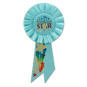 Biestle 3 1/4 x 6 1/2 Birthday Star Rosette, Blue, 3/Pack