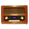Wolverine RSR100 Retro Style Table Top Bluetooth Speaker With AM/FM Radio