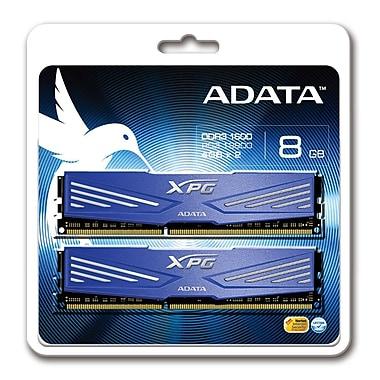 Adata 4GBx2 1600 PC3-12800 DDR3 Memory Module, Blue