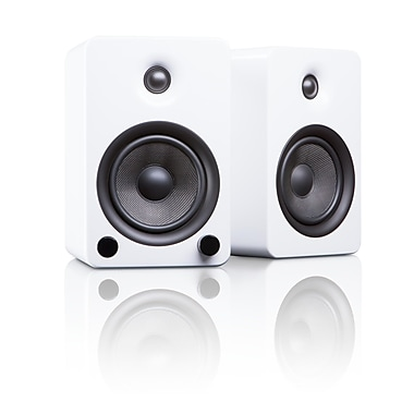 Kanto YU5GW Powered Bookshelf Speakers with Bluetooth™ Technology, Gloss White