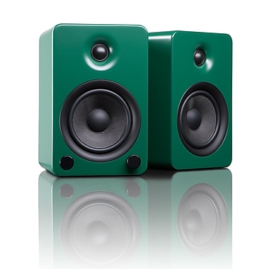 Kanto YU5MN Powered Bookshelf Speakers with Bluetooth™ Technology, Matte Green