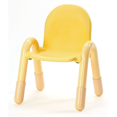Angeles Baseline 11'' PVC Classroom Chair; CanaryYellow