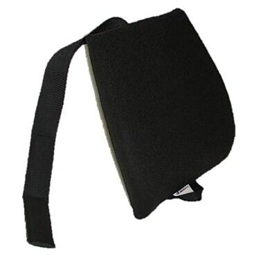 Sacro-Ease Memory Foam Back Cushion w/ Adjustable Belt; Black