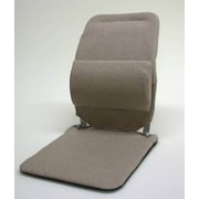 Sacro-Ease Seat Back Cushion w/ Adjustable Lumbar Support; Light Brown