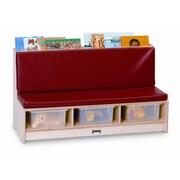 Jonti-Craft 11'' Wood Classroom Bench; Red