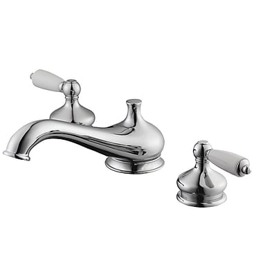 Aqueous Faucet Teabury Double Handle Deck Mount Roman Tub Faucet Lever Handle; Brushed Bronze