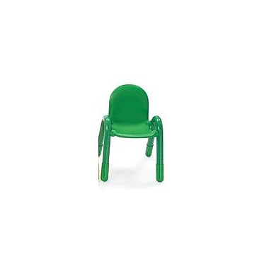 Angeles 9'' PVC Classroom Baseline Chair; Shamrock Green