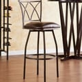 Wildon Home   Albertson 24.5'' Adjustable Swivel Bar Stool with Cushion
