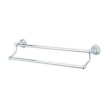 Elements of Design Royale Atlanta Double 24'' Wall Mounted Towel Bar; Polished Chrome