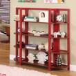 InRoom Designs 42'' Bookcase; Red / Walnut