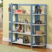 InRoom Designs 42'' Bookcase; Light Blue / White