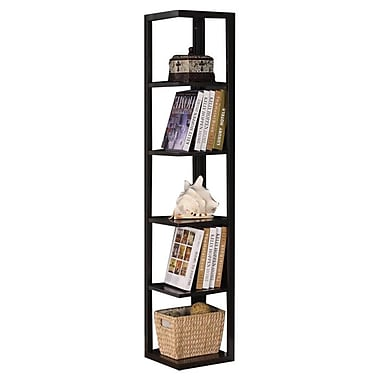 InRoom Designs 64'' Corner Bookcase
