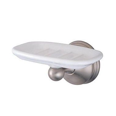 Elements of Design Vintage St. Louis Soap Dish; Satin Nickel